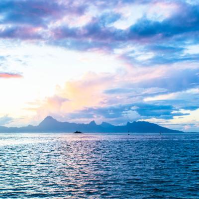 Sunset in Tahiti © Stephanie K. Graf