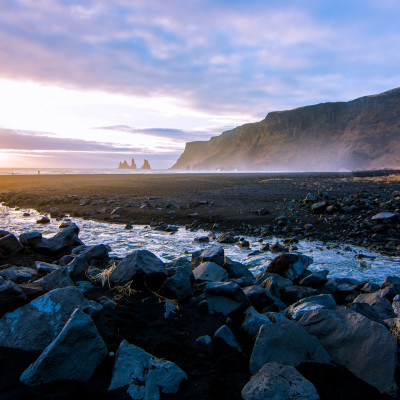 Black Sand Beach, Vík, Iceland © Stephanie K. Graf