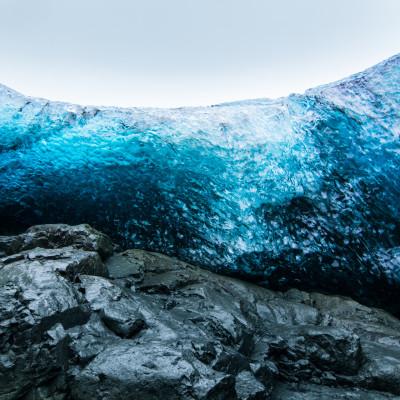 Waterfall Ice Cave, Breiðamerkurjökull, Iceland © Stephanie K. Graf